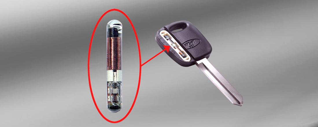 chaves codificadas, com um transponder