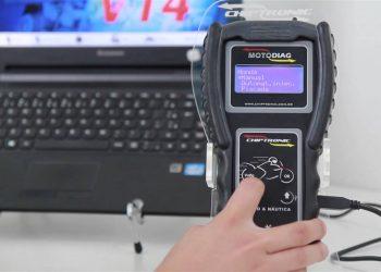 Video instruções de uso do Scanner Motodiag – Aula 7: Como ver a versão da carga do Motodiag