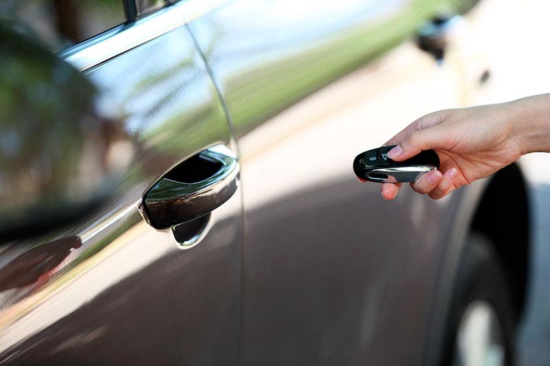 Carro com chave codificada
