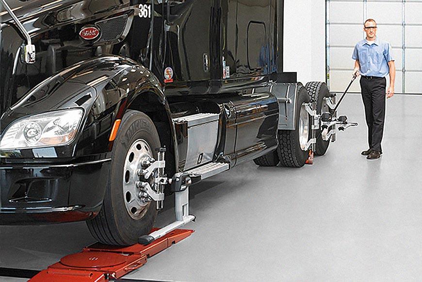 Alinhamento de caminhões 5 passos para um trabalho bem-feito