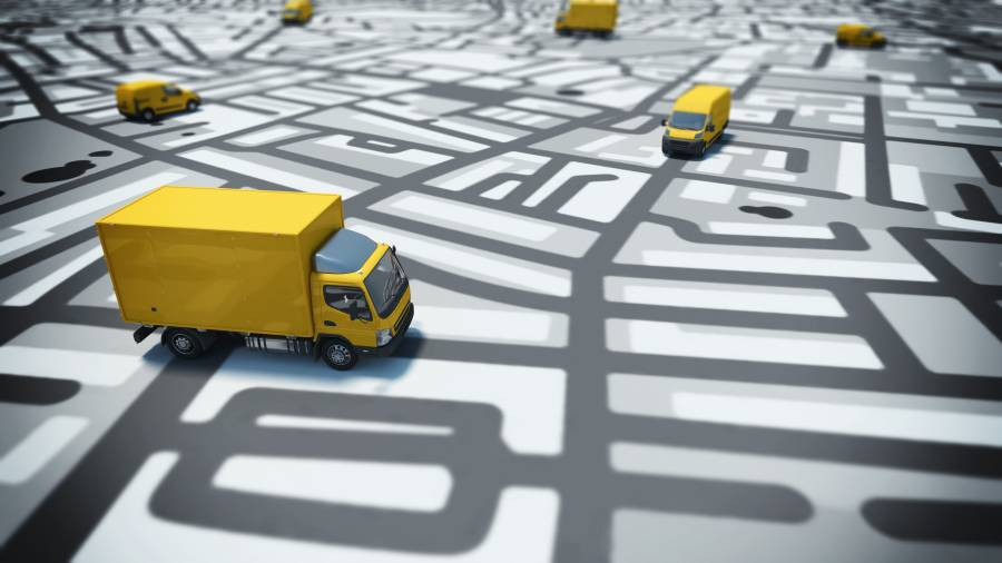 rastreador de caminhão